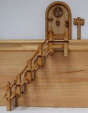 Fairy Door Accessories: Fairy Stairs Small Skirting Staircase Wooden Craft Kit