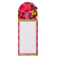 Notes, To Do List Magnetic Notepad - Flowers - 60 Sheets - Size 285mm x 104mm