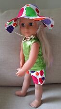 "AMERICAN GIRL GOTZ OUR GENERATION JOURNEY 18"" DOLL'S SHORTS, TANK TOP & SUN HAT"