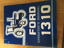 NEW HOLLAND FORD OPERATOR TRACTOR MANUAL 1310  operator's