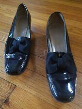 Salvatore Ferragamo Drusilla Black Patent Pump with Bow Women's Shoe size 10 A