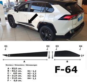 Seitenschutzleisten schwarz Design B für Toyota RAV 4 5.Generation ab 2019- F64