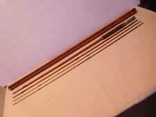 Vintage Montague Mt Tom Split Bamboo 4 piece Fly Rod w Wood Tube Section Case