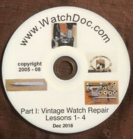 Basic VINTAGE Watch Repair Lessons 1 through 4 - ON A CD