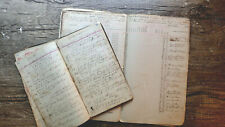 Circa 1889-1890 Handwritten Diary Virginia Tobacco Farmers North Danville 40pp