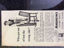 a1k ephemera 1952 advert andrews liver salt who got out of bed the wrong side