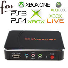 HD Game Video Capture 1080P HDMI/YPBPR Recorder for X box 360 One Live PS3 PS4
