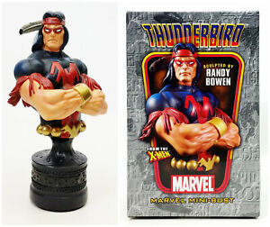 "Bowen Designs Marvel Mini Bust X Men Thunderbird 6"" Statue Signed by Randy Bowen"