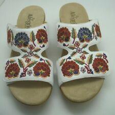 Alegria by PG Lite Women's Sandal White Floral Slide On Mule Size 40 US 9.5/10