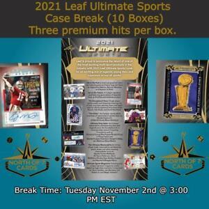 Martina Hingis 2021 Leaf Ultimate Sports 1X Case 10X Boxes Player Break #5