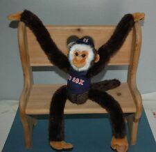 "Red Sox Basball Monkey Stuffed Plush 14"" Twin Enterprise Inc.Genuine Major Leage"
