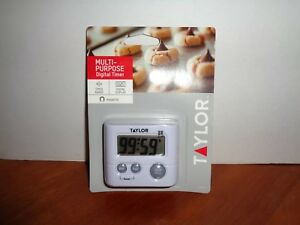 Taylor Multi-Purpose Large Display Digital Kitchen Timer With Magnetic Back Clip