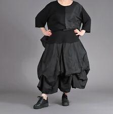 ♦ AKH Fashion Taft-Ballon-Rock Gr. 44,46,48,50,52/54 schwarz, Länge variabel ♦