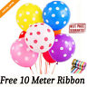 10 -100 Polka Dot Latex Helium Spotty Balloons Quality Party Birthday or Wedding