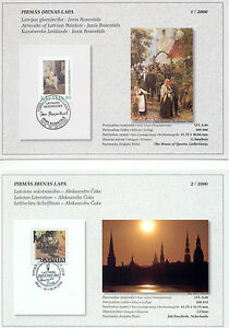 Latvia - Lot of First Day Cards - Complete Year Set 2000