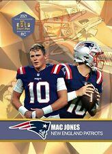 MAC JONES 2021 VERY FIRST EVER GOLD DRAFT PICK ROOKIE CARD NEW ENGLAND PATRIOTS!