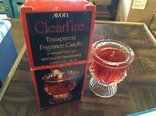 Avon clear fire transparent fragrance candle