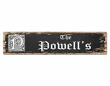 SP0697 The POWELL'S Family name Sign Bar Store Shop Cafe Home Chic Decor Gift