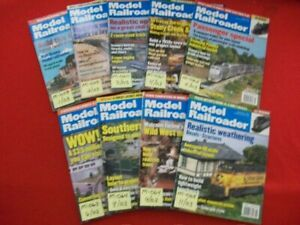 9-VINTAGE COLLECTIBLE MODEL RAILROADER MAGAZINE ISSUES 2003 LISTING #4/5 EXC.