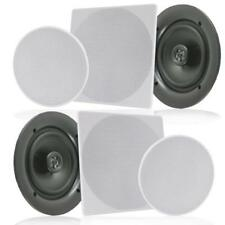 "Pair 6.5"" In-Wall / In-Ceiling Speakers, 2-Way Flush Mount Home Speaker 200 Watt"