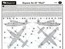 "Begemot Decals 1/72 BERIEV Be-12 ""MAIL"" Soviet Navy Flying Boat with Paint Masks"