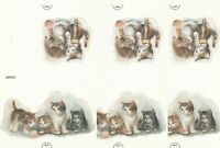 Vintage Fold and Seal Stationery Lot of 4 Kittens Play With Yarn Cute Cats