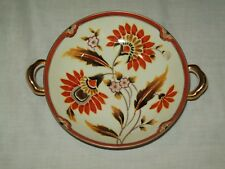 Vintage Noritake Flowered Candy Dish with gold Handles  Made in Japan