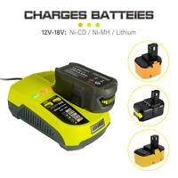 12V-18V P117 Charger for Ryobi ONE+ P105 P108 ABP1801 Lithium NiCD NiMH Battery