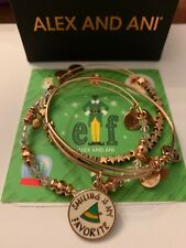 Alex and Ani ELF, SMILING IS MY FAVORITE Set Of 3  Bracelets NWOT, Card & Box