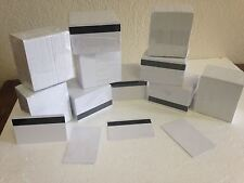 1000 x White CR80 PVC Credit Card HiCo Magnetic Stripe .30 mil for ID Printers