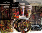 HUNTING CAMO - CEG Birthday Party Supply DELUXE Kit w/ Loot Bags & Invitations