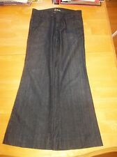 Anlo Dark Wash Flare Cotton Denim Jeans Pants Sz 27 X 29.5 GUC Made in USA