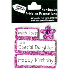 DIY - With Love-To a Special Daughter-Happy Birthday-Greeting Card Topper NEW