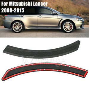 2pcs Front Fender Side Vent Covers Pair For Mitsubishi Lancer 2008-2015 EVO 10 X