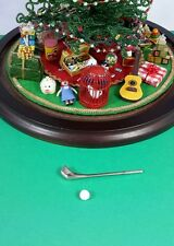 For Westrim Beaded Mini Christmas Tree * Under Tree Decor * Golf Club and Ball