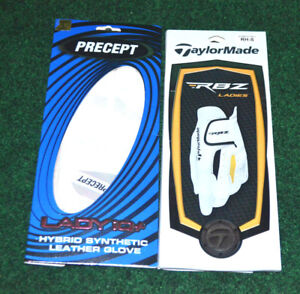 New TAYLORMADE RBZ + PRECEPT Lady iQ+ Two LRH Small Golf (2) Gloves For LH Golf