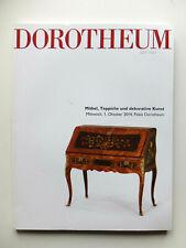 Catalogue Dorotheum, meubles anciens, objets d'art, tapis, 17ème siècle au 20ème