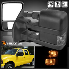 For 1999-2015 F250 F350 Super Duty Power Heated Tow Side Mirrors+Smoke Signal
