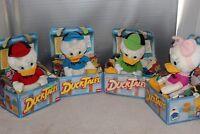 Disney DuckTales Huey Louie Dewey Webby Vtg Playskool Stuffed Plush 1986 NOS NEW