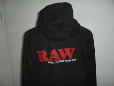 RAW Natural Rolling Papers Hoodie Kapuzenpulli Sweatshirt schwarz Gr.L