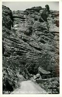 RCCP Real Photo Postcard AZ K182The Apache Trail in Fish Creek Canyon Ariz 1920s