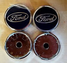 4x BLACK FORD FITS MOST NEW MODELS 60MM ALLOY WHEEL CENTRE CAPS