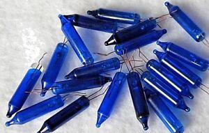 25 Mini BLUE Replacement Christmas Light Bulbs 2.5 Volt, .425 Watt, NEW