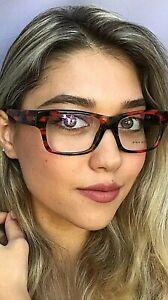 New ALAIN MIKLI Red 53mm Women's Eyeglasses Frame Italy