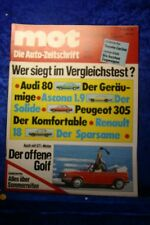 MOT 5/79 Audi 80 Opel Ascona 1,9 VW Golf Cabrio Renault 18