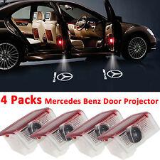 EEEKit 4 Packs Mercedes-Benz Logo LED Door Courtesy Light Laser Projector AMG