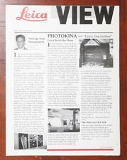 LEICA VIEW MAGAZINE, VOL. 1, NO. 5, FALL 1990/163460