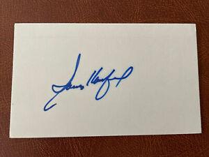 Sandy Koufax - Dodgers - Signed 3x5 Index Card