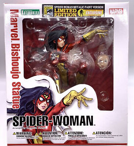 Exclusive! Metallic SPIDER-WOMAN Bishoujo Statue Figure SDCC 2014 NEW Spider-Man