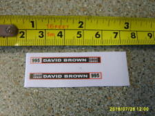 CORGI / DINKY  DAVID BROWN 955 FARM TRACTOR SIDE STICKERS CODE3 NEW REPLACEMENT